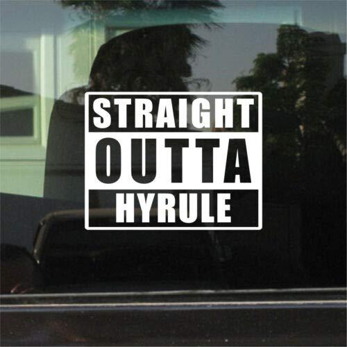 Yilooom Bumper Sticker for Cars, Trucks, Laptops - Straight Outta Hyrule (Legend of Zelda)