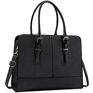 Lubardy Laptop Bags for Women 15.6 inch Ladies Leather Laptop Handbag Work Handbags Womens Tote Bag Office