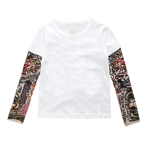 DaMohony Kids Toddler shirt met lange mouwen tattoo print pullover top shirt