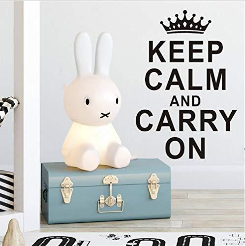 Blijf rustig en maak verder tekst behang, sticker, vinyl, waterdicht, muurkunst, sticker, 58 x 87 cm