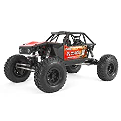Cutting-edge radio control rock crawling in an assembled 1/10 platform with tube chassis design and finely tuned suspension geometry Currie F9 Portal Axles with metal gears and ball bearings add substantial ground clearance at diff pumpkin while prov...
