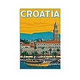 WEICHAO Vintage-Reise-Poster, Kroatien,