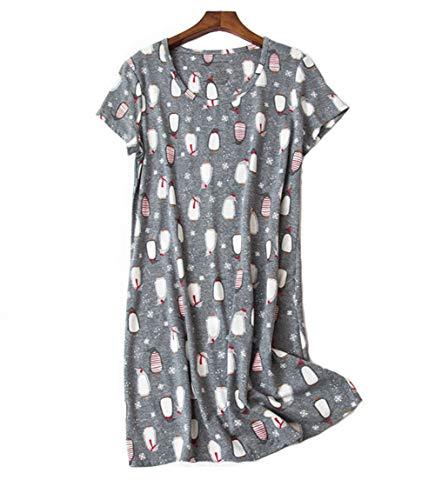 Camicie da Notte Donna Cotone Pigiami Vestaglia Accappatoio Camicie da Notte Manica Corta Taglie Forti