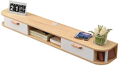 Met Love - Mueble de TV moderno de pared, estante de fondo Blu-ray Parer de pared, estantería para el dormitorio, decoración de la pared (color: D, tamaño: 150 cm)