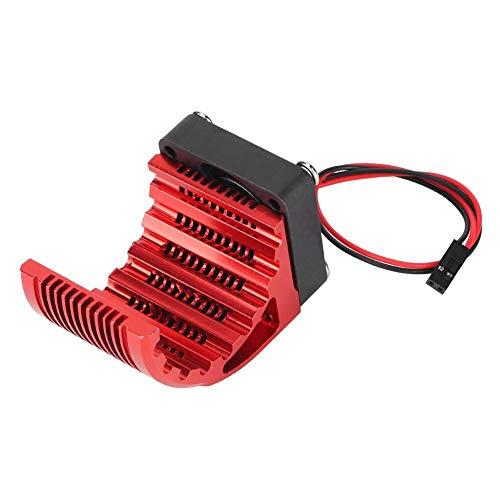 Keenso Ventilateur de Refroidissement de Voiture RC, radiateur de Moteur en Aluminium pour Voiture RC 4274 7282 1515 Moteur sans Brosse Rouge