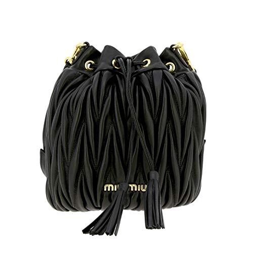 Miu Miu Luxury Fashion Damen 5BE014OOON88F0002 Schwarz Leder Schultertasche | Herbst Winter 20
