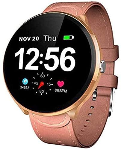 Reloj Inteligente Mujeres Y Hombres IP67 Impermeable Monitoreo de Ritmo Cardíaco Pulsera SMS Recordar Actividad Tracker Bluetooth Smartwatch para Android e IOS-E