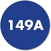 Huisnummerbordje Blauw rond | 12 cm
