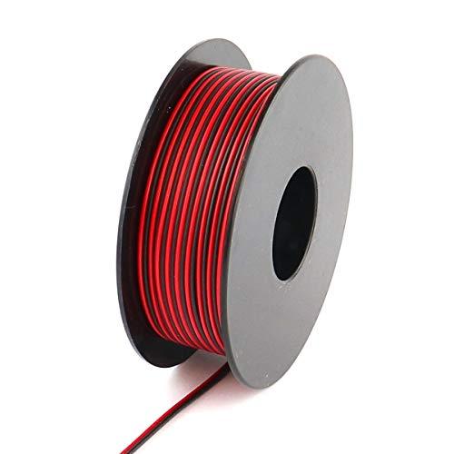 Xenterio LiYZ Flachleitung, 2x0,14mm², 25m Spule, Adernfarben rot/schwarz