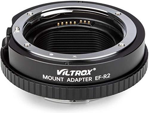 Adaptador de montura de objetivo EF-R2 enfoque automático AF con control funcional (apertura ajustable ISO y exposición) convertidor automático para lentes Canon EOS EF/EF-S a cámaras EOS R/EOS RP