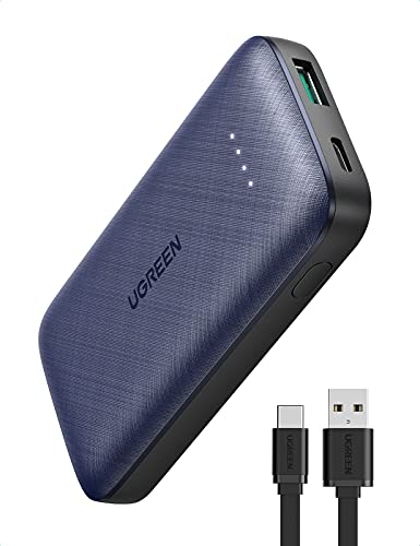UGREEN 20W Batería Externa Movil PD 3.0, Mini Power Bank USB C 10000mAh Carga Rápida, Cargador Portátil Móvil Pequeño QC 3.0 Compatible con iPhone 12 Pro/ 11/ XR/XS/ 8, iPad Pro 2020, Airpods Pro