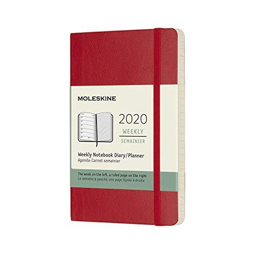 モレスキン 手帳 2020年 1月始まり 12ヶ月ウィークリーダイアリー ソフトカバー ポケットサイズ スカーレットレッド DSF212WN2Y20-e