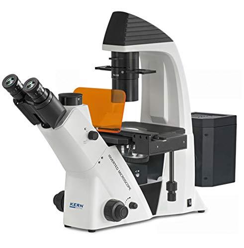Kern OCM 168 - Durchlichtmikroskop (invers), Das Inverse biologische Labormikroskop, Optisches System: Infinity, Tubus: Trinokular, Beleuchtung: 5W LED + 5W Epi Fluoreszenz (B/G/UV/V)