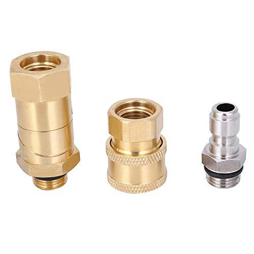Accesorio de tubería de Manguera Duradero, Conector Universal, Industria Resistente al óxido de latón Flexible de 360 Grados para el hogar