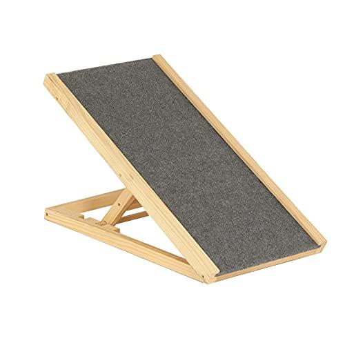 Tagge Rampa de escalera para perro de 70 x 35 x 30 y 40 cm, altura ajustable, para mascotas con alfombra antideslizante, escalera de seguridad para viajes