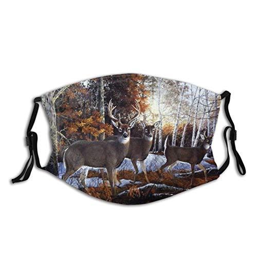 Face Decoration Deer Camouflage American Flag Hunting Face Mask Unisex Dustproof Washable Reusable Adjustable Balaclava