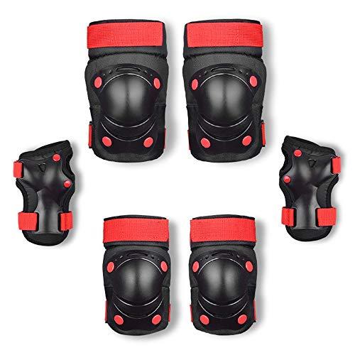 Children's Roller Skating Protective Gear Complete Conjunto de rodillas y almohadillas de codo Set de la rueda de balance de la rueda de balancín Conjunto de engranajes protectores de 6 engranajes pro