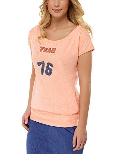 Uncover by Schiesser Damen Longshirt s/Sleeves Nachthemd, Gelb (apricot-Mel. 611), 38 (Herstellergröße: M)