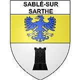 Sablé-sur-Sarthe 72 ville Stickers blason autocollant adhésif - Taille : 8 cm