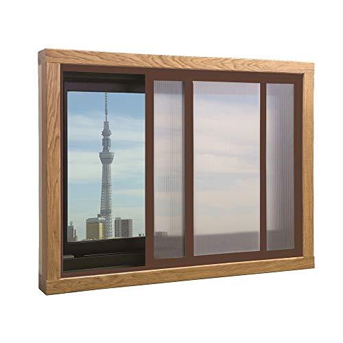 アクリサンデー エコな簡易内窓セット ブラウン LW1800×H1400以内 (PU-S L BR)