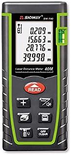 جهاز قياس المسافة بالليزر سندواي جهاز قياس المسافة بالليزر الرقمي قياس 40 متر مسافة متر شريط قياس المساحة مع مستوى الفقاعة...
