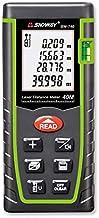 SNDWAY Laser Distance Measure SW-T40 Digital Laser Rangefinder 40M Distance Meter Tape Measure Area Volume with Bubble Lev...