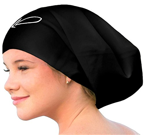 Lahtak &Trade; Extra Large Swimming Cap - Stylish, Waterproof Silicone Swim Hat for Long Hair...