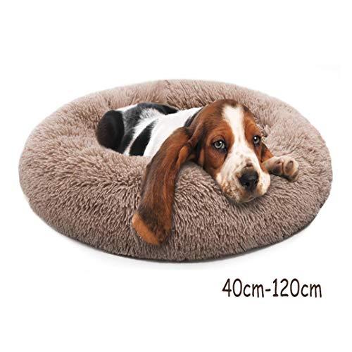 GSELL-HF Camas para Perros Extra Suave Lavable Cómodo Sofá Cama para Mascotas, Redondo Impermeable Felpa Donut Gatos Cojines Cama Nido, 40-120Cm,70cm