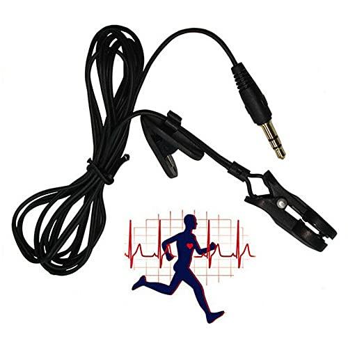 ATIN Clip de oreja para ejercicio cardiaco, sensor de ritmo cardíaco, sensor de ritmo cardíaco, como cinta de correr, entrenador cruzado, máquina de remo, pequeño y ligero