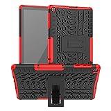 XITODA Funda para Huawei MatePad T10/T10S,TPU Silicone + PC Protección con Stand Carcasa para Huawei MatePad T10 AGR-L09 AGR-W09 9.7''/MatePad T10S AGS3-L09 AGS3-W09 10.1''Tablet,Rojo