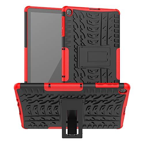 XITODA Cover per Huawei MatePad T10/T10S - Protezione in Silicone & PC Duro Stand Custodia per Huawei MatePad T10 AGR-L09 AGR-W09 9.7''/MatePad T10S AGS3-L09 AGS3-W09 10.1'' Tablet,Rosso