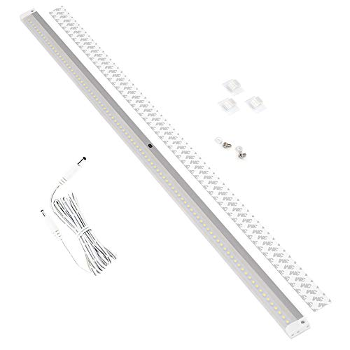 EShine White Finish Extra Long 40 inch LED - with IR Sensor - Dimmable Under Cabinet Lighting Panel Bar with Accessories (No Power Supply Included), Warm White (3000K)