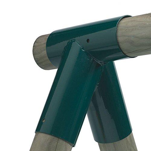 Gartenwelt Riegelsberger 2 Stück Schaukelverbinder 10x10x10cm für Schaukelbalken Ø 10cm aus Stahl 2,5mm grün pulverbeschichtet