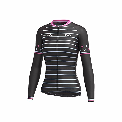 FDX Damen Fahrradtrikot Roubaix Thermal Top Fahrradjacke Limited Edition XL Schwarz/Pink/Weiß