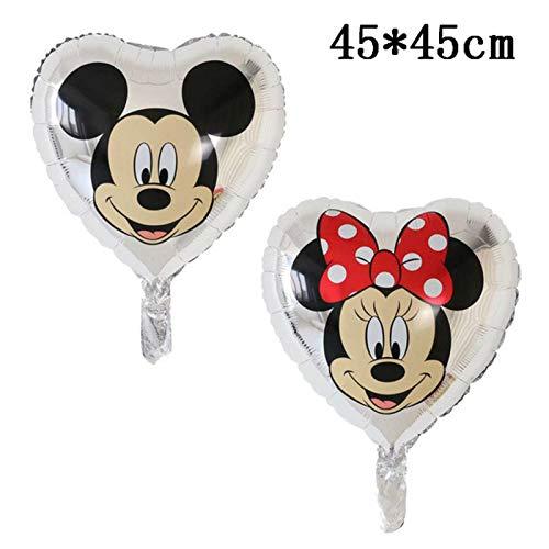 N-B Globo Gigante de Mickey Minnie Mouse de Dibujos Animados de Disney Globo de Papel de Aluminio Baby Shower Decoraciones para Fiesta de cumpleaños Juguetes clásicos para niños