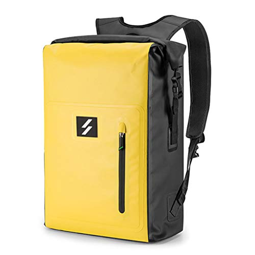 KunmniZ 25L Large Capacity PVC Backpack Roll Top Waterproof Dry Bag Knapsack for Cycling Camping Hiking Fishing Kayaking