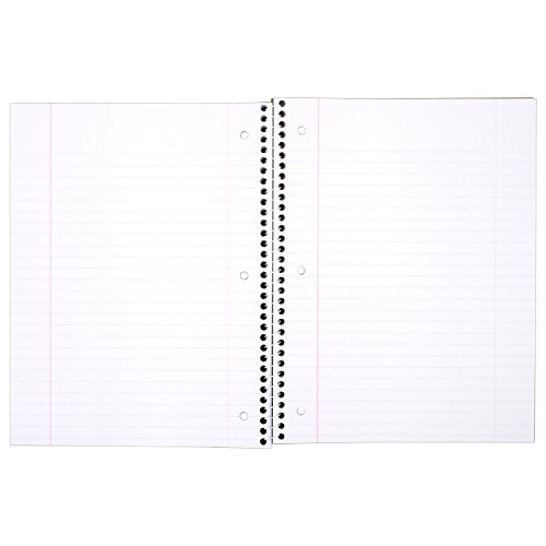 Mead Spiral Notebook, 1 Subject, Wide Ruled Paper, 70 Sheets, Design Will Vary, 1 Count (07172)