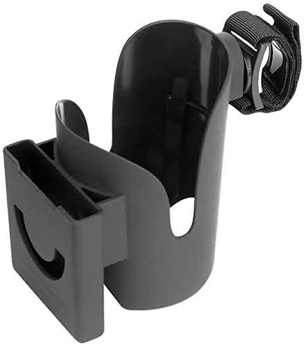 Kinderwagen Becherhalter, 2-In-1 Universal Baby Buggy Becherhalter Stabile Platzierung Handyhalterung 360° Drehbar Universal Fahrrad Flasche Cup Getränkehalter Für Fahrräder, Rollstuhl