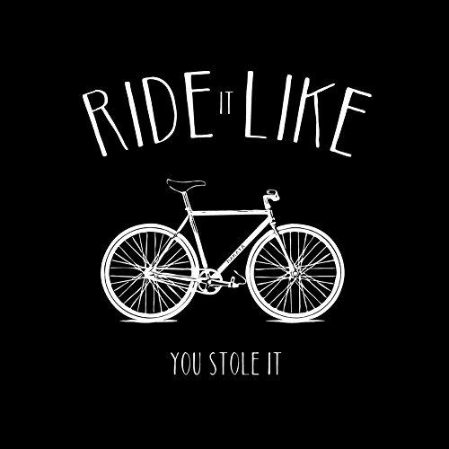 Fahrrad T-Shirt für Männer – Ride it like you stole it – schwarz Größe S - 2
