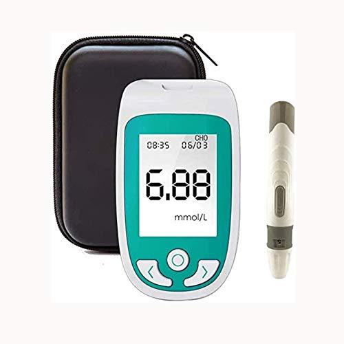 ZJXYYYzj Blutzuckermessgerät 3 in 1 Multifunktions, 3 in 1 Testkit Blut-Glukose-Test & Cholesterin & UricAcid Monitor-Kit Startseite Tester und Testpapier (Size : Monitor+10 Cholesterol Test Paper)