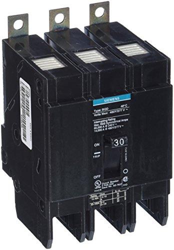 Siemens SIEBQD330 SIE BQD330 3P 30A 277/480 CB, Black