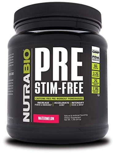 NutraBio PRE Stim Free - Caffeine Free Pre Workout...