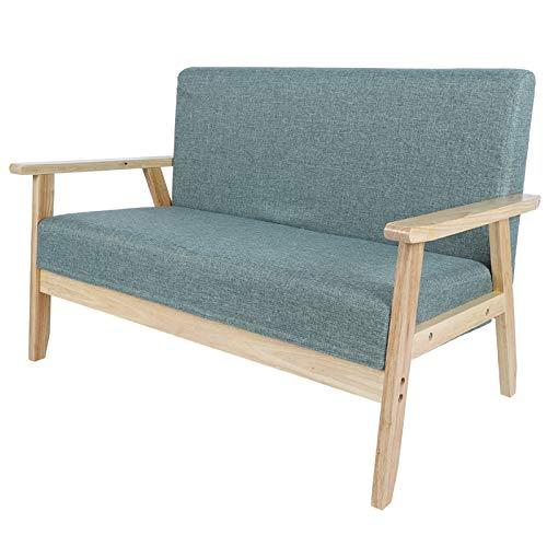 Emoshayoga Sofá Lounge Sillón Resistente al Desgaste Sofá de 2 plazas para Sala de Estar Dormitorio Habitación de huéspedes