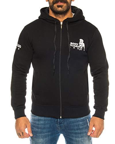 Raff & Taff – Pantalones deportivos Bulldog Bodyguard de mezcla de algodón de alta calidad Negro (16071). 62