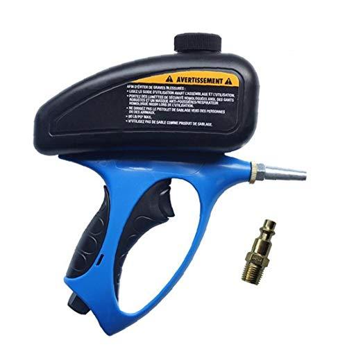 NaiCasy Pistola de Chorro de Arena portátil Manual, máquina de Chorro de Arena Anti-Moho neumático con Cabeza conversión, Manchas de Pintura Quitar y Piscina óxido Limpio