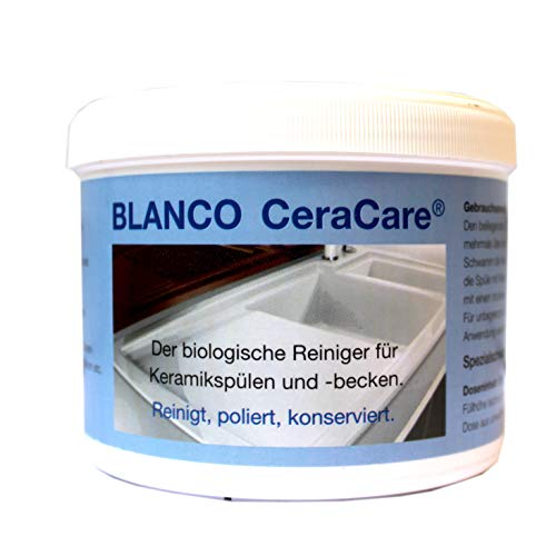 BLANCO CeraCare 350g, biologischer Reiniger für Cerankochfelder, Keramikspülen und -becken mit Poliereffekt