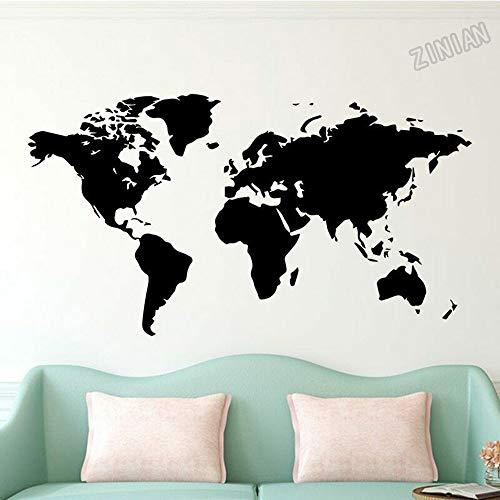Große Weltkarte Globale Weltreise Wandaufkleber Firmenbüro Wohnzimmer Schlafzimmer Klassenzimmer Hauptdekoration Vinyl DIY Wandtattoo Kunst Wandplakat