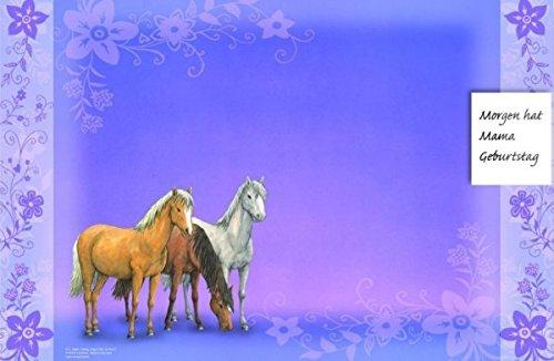 Schreibtischauflage Pferde Traumpferdchen Blütenzauber