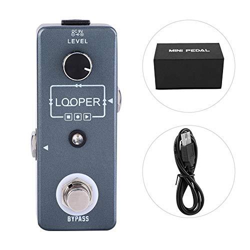 RiToEasysports Fafeicy Guitar Tuner E-Gitarren Effekt Mini Single Block Effekt Loop mit Recording Looper für E-Gitarre