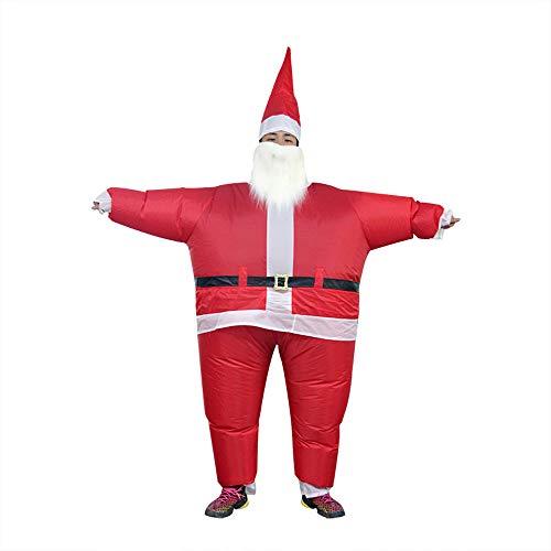 JJAIR Erwachsene Weihnachten Weihnachtsmann aufblasbare Kostüm, Partei-Abendkleid Bluse Jumpsuit Erwachsener Lustige Party-Ereignis-Performance-Kostüme
